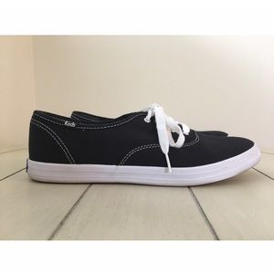 Women's Black Keds with White Laces